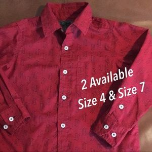 Button Down Shirts, Sizes 7 and 4